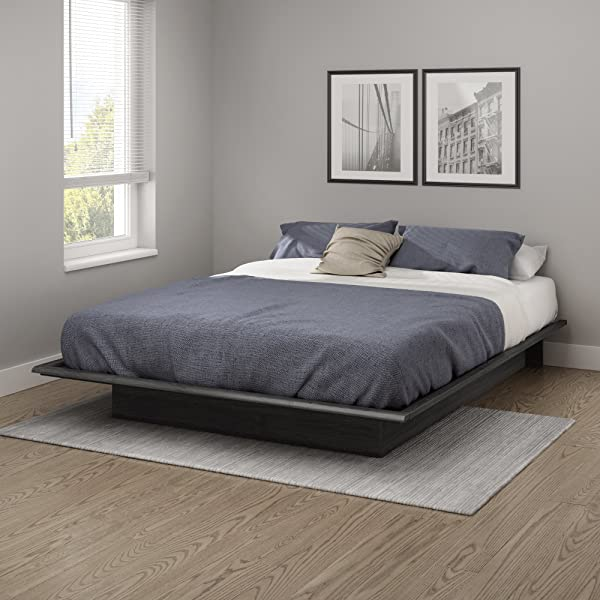 South Shore 10440 Step One Queen Platform Bed 60 Gray Oak 60