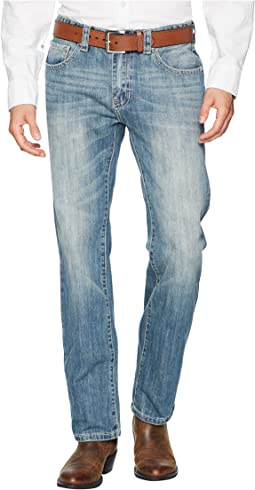 Revolver Slim Denim with Stitches in Light Vintage M1R6617