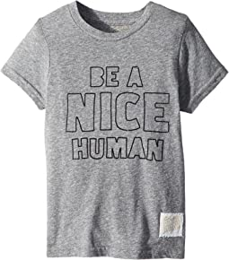 The Original Retro Brand Kids - Be A Nice Human Short Sleeve Tri-Blend Tee (Little Kids/Big Kids)