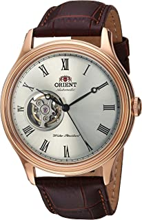 Men's Envoy Japanese Automatic/Hand Winding Movement Stainless Steel Leather Dress Watch