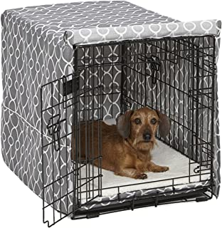 Midwest Homes for Pets Dog Crate Cover, Gray Geometric Pattern, 30-Inch