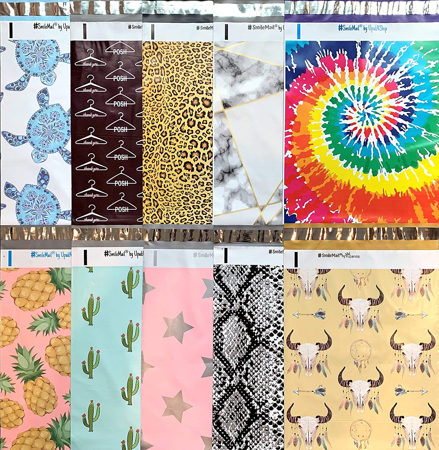 Designer Poly Mailers 10x13: Sample Variety 100% quality warranty Turtle ~ #3 Pack Sea 5% OFF