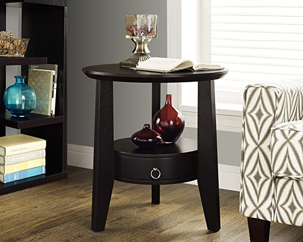 Monarch Specialties Cappuccino Accent Table With 1 Drawer 23 Inch