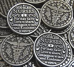 Set of 10 God Bless Nurses Pocket Token Coins