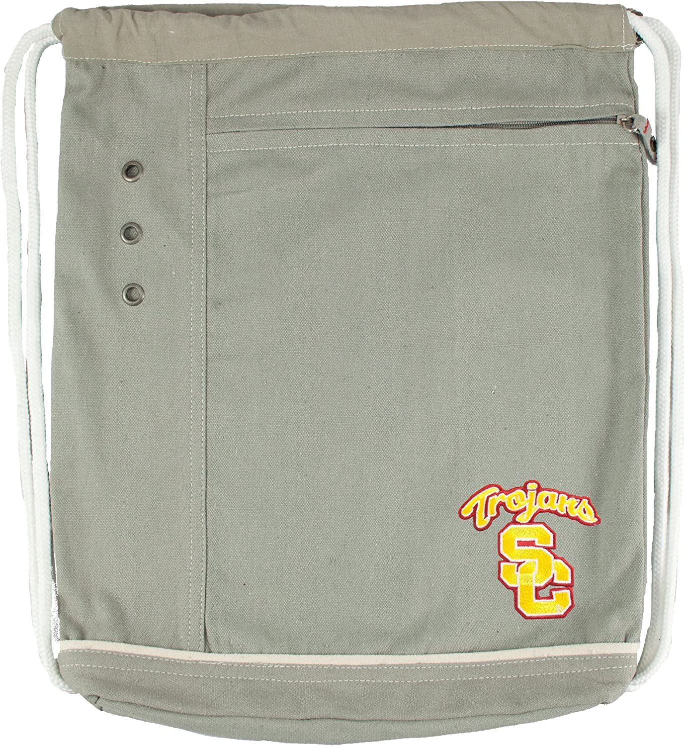 Japan's largest assortment Littlearth NCAA USC Trojans Old School Cinch Backpack One Max 59% OFF Size
