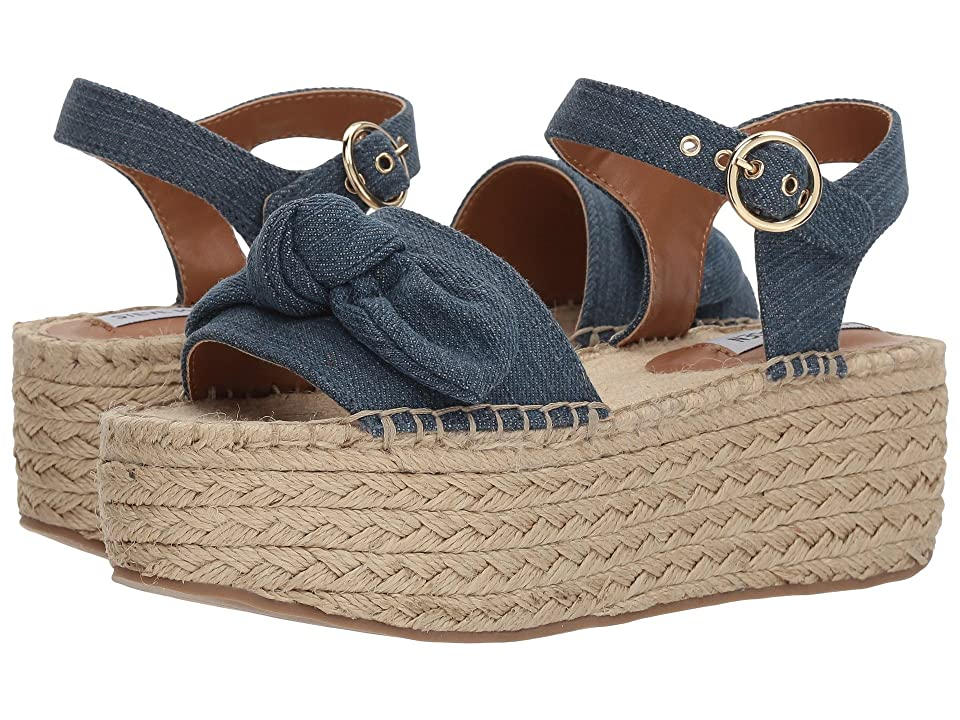 Steve Madden Union Espadrille Wedge Sandal (Denim) Women