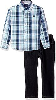 Izod Boys' Toddler Two Piece Woven Shirt Set