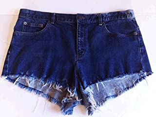 Short shorts, 14, Jean Shorts, Upcycled, Cut-off, Fray, Blue Denim, Lauren Jeans Co, Bleached