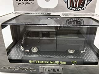 M2 Machines by M2 Collectible Titanium 1960 VW Double Cab Truck USA Model 1:64 Scale TI01 17-11 Grey Details Like NO Other! 1 of 5880