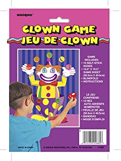 Pin the Nose on the Clown Party Game for 16