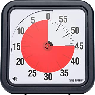 Time Timer Original 12 inch; 60 Minute Visual Timer – Classroom Or Meeting Countdown Clock for Kids and Adults (Black)