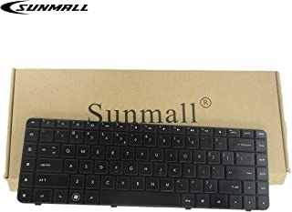 SUNMALL Replacement Keyboard with Ribbon Cable Compatible with HP Compaq Presario CQ62 G62 G56 CQ56 Series Compatible with Part Number 595199-001 613386-001 6098 Cq56-100 G56-100 G62-340US US Layout