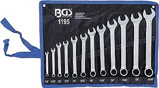 BGS Technic 1195 - Juego de Llaves Combinadas en Pulgadas 1/4 - 15/16 , 12 Piezas