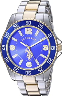 U.S. Polo Assn. Men's Two-Toned, Royal Blue Dial,...