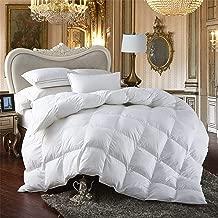 Premium All-Season King Size Luxury Siberian Goose Down Comforter Duvet Insert 750FP 1200 Thread Count 100% Egyptian Cotton (King, White Solid)