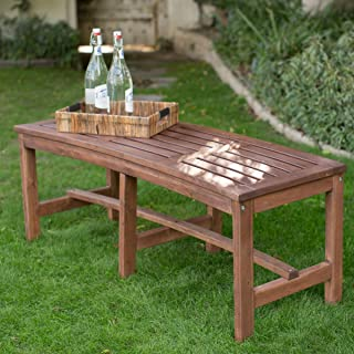 curved hardwood bench