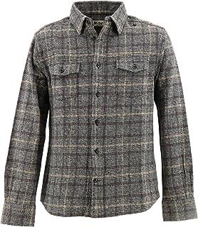 [SWEEP!! LosAngeles スウィープ ロサンゼルス]メンズ チェック柄 コットン ツイードシャツ SWFSTW-11 GRAY(グレー)