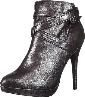Michael Antonio Women's Peeps-met Ankle Boot, Pewter, 7 M US
