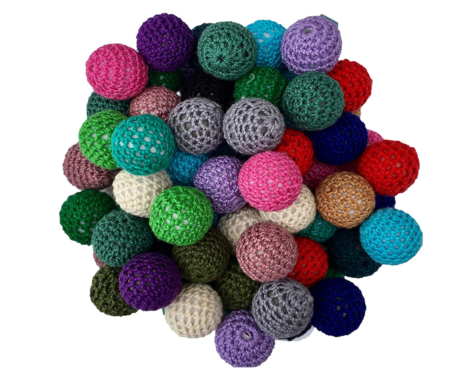 20mm Crochet Beads 50 Count Mixed Pack Chunky Bubble Gum Beads