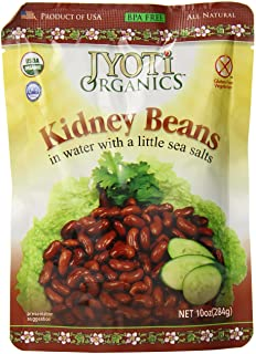 Jyoti Organic Kidney Beans, 10 Ounce (Pack of 6)