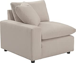 Signature Design by Ashley - Savesto Contemporary Left Arm Facing Corner Chair - Standalone or Sectional Component, Ivory