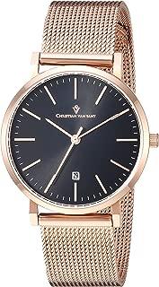Christian Van Sant Women's Paradigm Quartz Watch with Stainless-Steel Strap, Rose Gold, 16 (Model: CV4221)