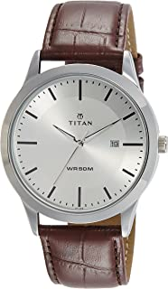 Titan Analog Silver Dial Men's Watch-NL1584SL03