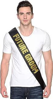 Black Satin Future Groom Sash - Bachelor Party Sash - Groom Sash - Groom to Be Sash - Male Bachelor Party Supplies,Favors - Celebration Ideas - Bridal Gift