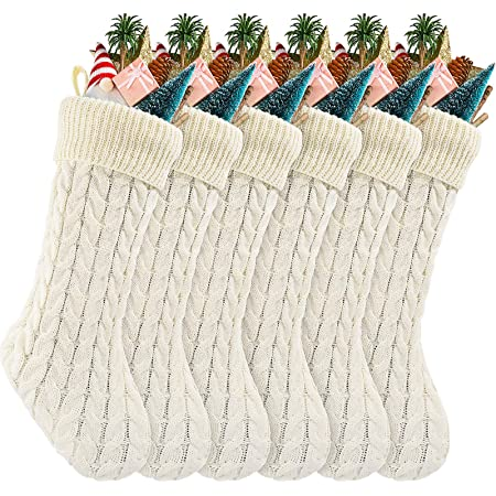 SET//4 POTTERY BARN KNITTED STRIPE FLATWARE STOCKING~CHRISTMAS~NEW~3 AVAILABLE~