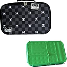 Go Green Lunch Box Set • 5 Compartment Leak-Proof Lunch Box • Insulated Carrying Bag • Beverage Bottle • Gel Freezer Pack (Jolly Roger Pirate)