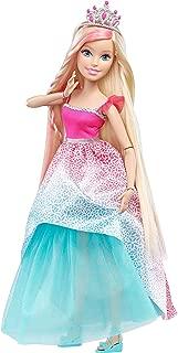 Barbie Endless Hair Kingdom Princess Doll, Pink/Blue