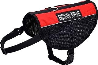 Just 4 Paws Emotional Support Dog Vest Jacket | 6 Sizes | Adjustable Straps & 2 Removable Reflective Emotional Support Dog Patches