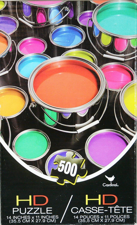 Cardinal 500 Piece Puzzle of Paint Cans