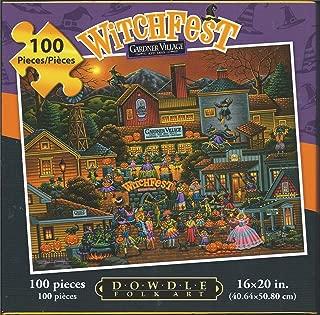 Eric Dowdle Folk Art Puzzle Gardner Village Witch Fest 100 Pcs 16