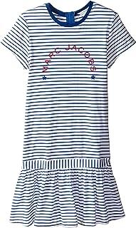 [マークジェイコブス] Little Marc Jacobs レディース Mariniere Dress (Big Kids) ドレス Blanc/Blue 12L (Big Kids) [並行輸入品]