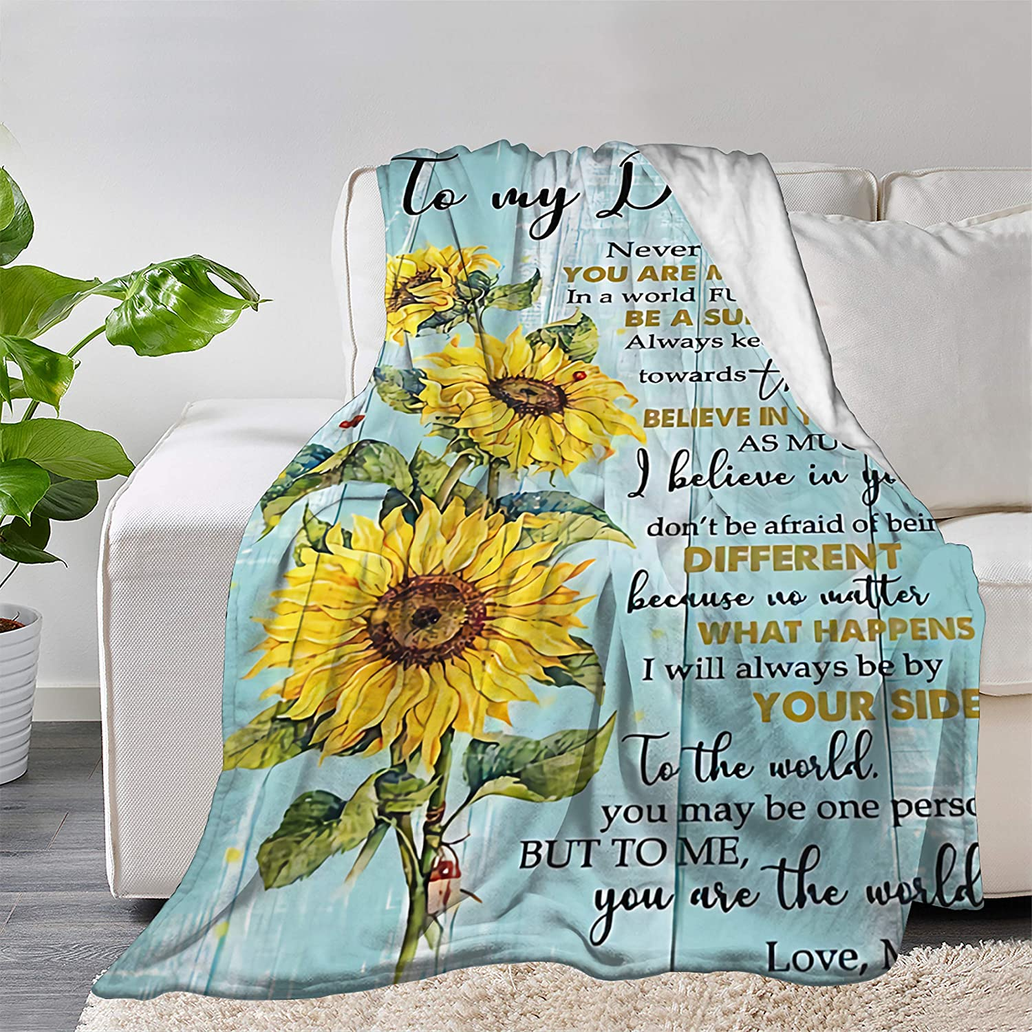 Multi-Styles to My Daughter Love Blanket Mom モデル着用 注目アイテム 人気急上昇 Quilt Throw Bedspre