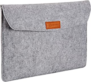 "AmazonBasics 15.4"" Felt Laptop Sleeve, Light Grey"