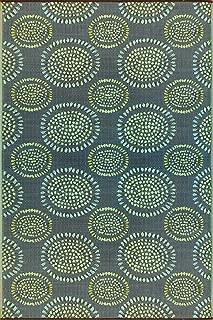 Mad Mats Molly Indoor/Outdoor Floor Mat, 6 by 9-Feet, Black Aqua