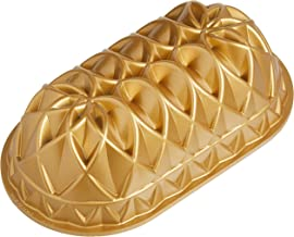 Nordic Ware Jubilee Cast Loaf Pan, 6 Cup Capacity, Gold