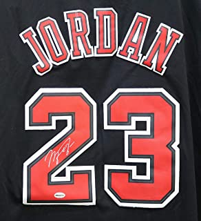 Michael Jordan Chicago Bulls Signed Autographed Short Sleeve Black  23  Jersey 3808bc763