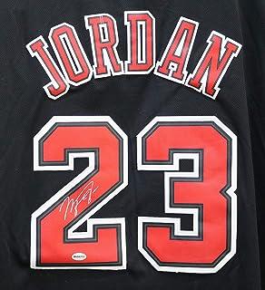 50783a21f Michael Jordan Chicago Bulls Signed Autographed Short Sleeve Black  23  Jersey
