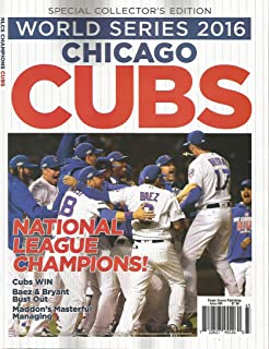 World Series 2016 Chicago Cubs National League Champions Program MLB Baseball RARE PUBLICATION