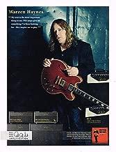 PRS - Paul Reed Smith Amps - Warren Haynes - 2011 Advertisement