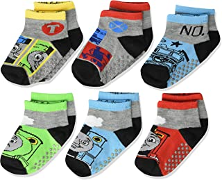Boys' Quarter Length Socks with Grippers, 6 Pair Pack