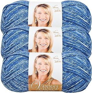 (3 Pack) Lion Brand Yarn 860-300E Vanna's Choice Yarn, Denim Mist