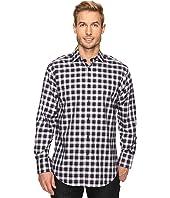 Thomas Dean & Co. - Long Sleeve Classic Plaid Sport Shirt