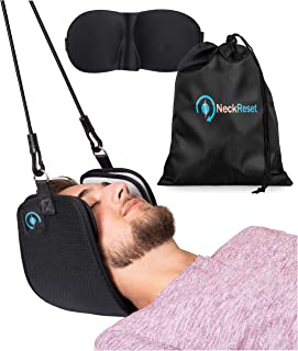 NeckRESET Cervical Traction Head Hammock for Neck Pain | Physical Therapy Sling for Improving Circulation, Relieving Tension, Stretching Muscles, Supporting Posture