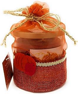 Yankee Candle Apple Pumpkin Medium 2-Wick Tumbler Candle in a Decorated Burlap Gift Bag