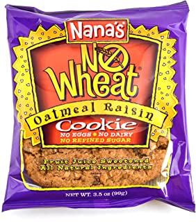 Nana's Wheat Free Oatmeal Raisin Cookies, 3.5-Ounce Packages (Pack of 12)