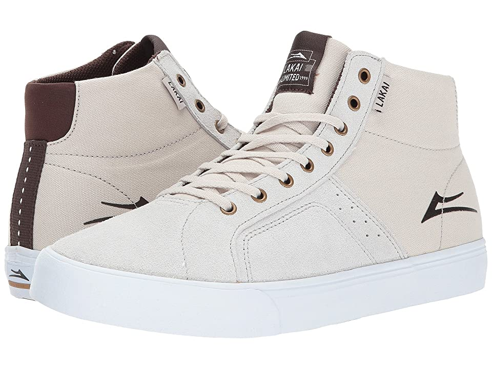 Lakai Flaco High (White Suede) Men